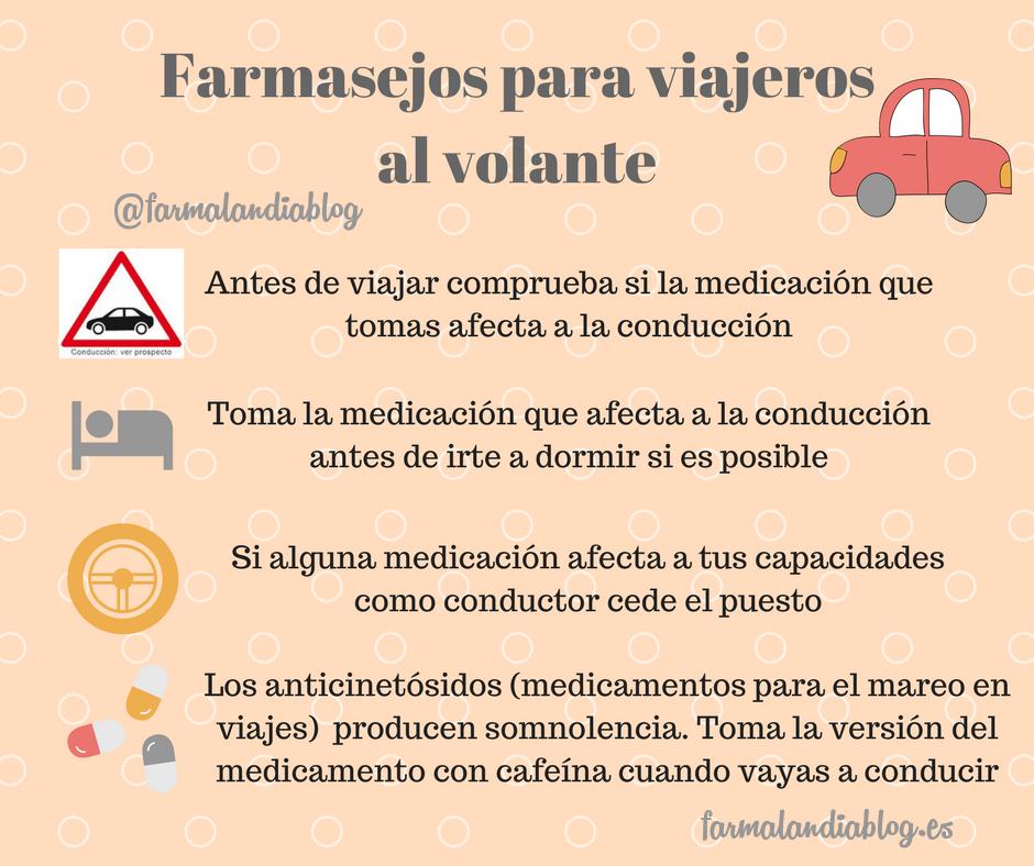 Conducción y medicamentos al volante, evita accidentes